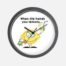 Making Lemonade Wall Clock