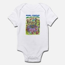 Wiener Dog Pool Party Infant Bodysuit