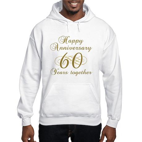 Stylish 60th Anniversary Hooded Sweatshirt