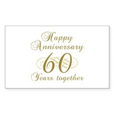 Stylish 60th Anniversary Decal