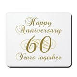 60th wedding anniversary Mouse Pads