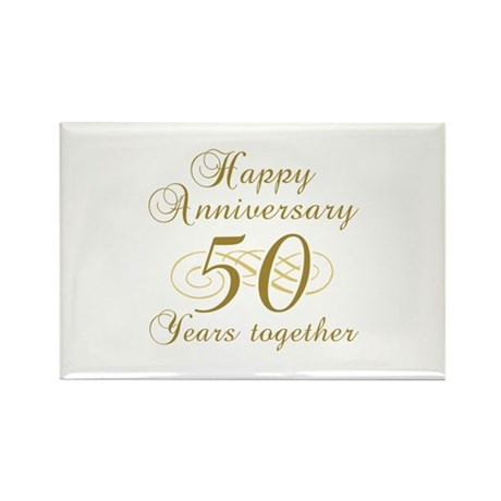 Stylish 50th Anniversary Rectangle Magnet (10 pack