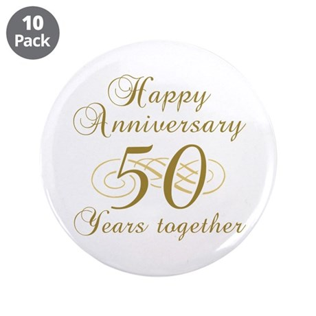 "Stylish 50th Anniversary 3.5"" Button (10 pack)"