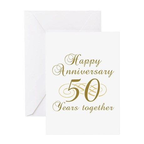 Stylish 50th Anniversary Greeting Card