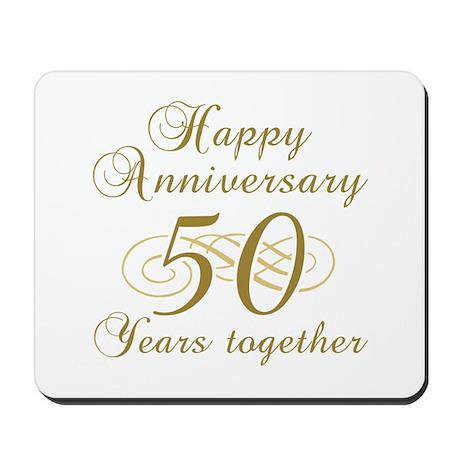 Stylish 50th Anniversary Mousepad