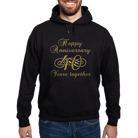 Stylish 40th Anniversary Hoodie (dark)