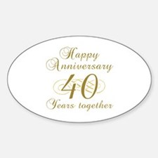 Stylish 40th Anniversary Decal