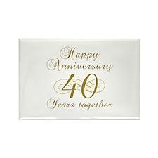 Stylish 40th Anniversary Rectangle Magnet