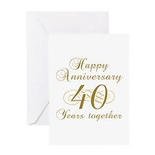 Stylish 40th Anniversary Greeting Card