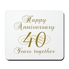 Stylish 40th Anniversary Mousepad