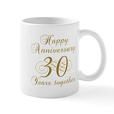 Stylish 30th Anniversary Small Mugs