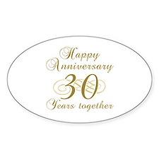 Stylish 30th Anniversary Decal