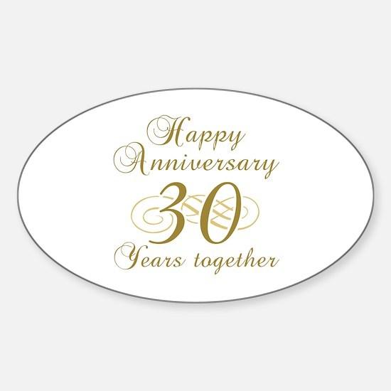 Stylish 30th Anniversary Sticker (Oval)