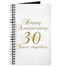 Stylish 30th Anniversary Journal