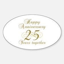 Stylish 25th Anniversary Decal