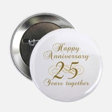 """Stylish 25th Anniversary 2.25"""" Button (10 pack)"""