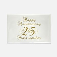 Stylish 25th Anniversary Rectangle Magnet