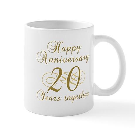 Stylish 20th Anniversary Mug