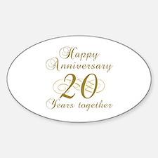 Stylish 20th Anniversary Decal