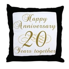 Stylish 20th Anniversary Throw Pillow