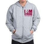 I am Strong Multiple Myeloma Zip Hoodie