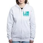 I am Strong Ovarian Cancer Women's Zip Hoodie