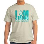I am Strong Ovarian Cancer Light T-Shirt