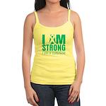 I am Strong Ovarian Cancer Jr. Spaghetti Tank
