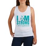 I am Strong Ovarian Cancer Women's Tank Top