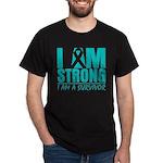 I am Strong Ovarian Cancer Dark T-Shirt