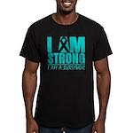 I am Strong Ovarian Cancer Men's Fitted T-Shirt (d