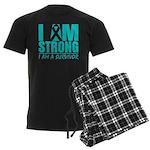 I am Strong Ovarian Cancer Men's Dark Pajamas