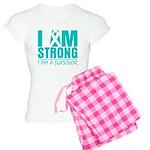 I am Strong Ovarian Cancer Women's Light Pajamas