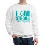 I am Strong Ovarian Cancer Sweatshirt