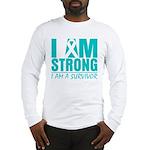 I am Strong Ovarian Cancer Long Sleeve T-Shirt