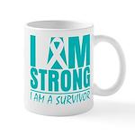 I am Strong Ovarian Cancer Mug