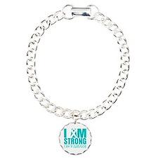 I am Strong Ovarian Cancer Bracelet