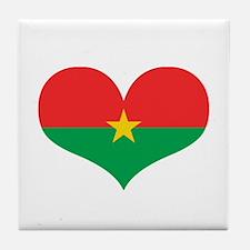 burkina flag Tile Coaster