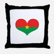 burkina flag Throw Pillow