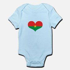 burkina flag Infant Bodysuit