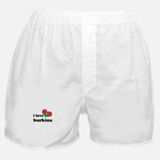 i love burkina Boxer Shorts