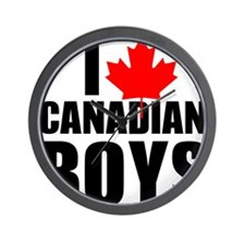 i heart canadian boys Wall Clock