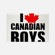 i heart canadian boys Rectangle Magnet (100 pack)