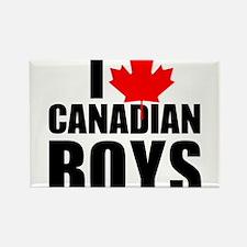 i heart canadian boys Rectangle Magnet