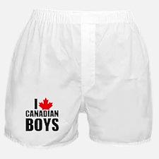 i heart canadian boys Boxer Shorts