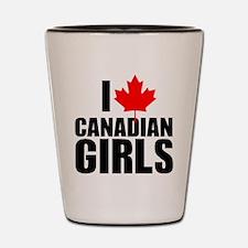 i heart canadian girls Shot Glass