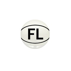 FLORIDA OVAL STICKERS AND MOR Mini Button (100 pac