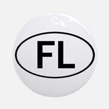 FLORIDA OVAL STICKERS AND MOR Ornament (Round)