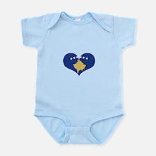 kosovo flag Infant Bodysuit