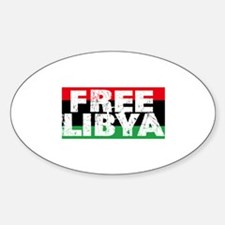 free libya block Sticker (Oval)